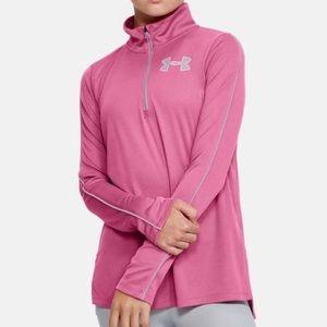 Under Armour Girls' Tech Half Zip Sweatshirt - YMD